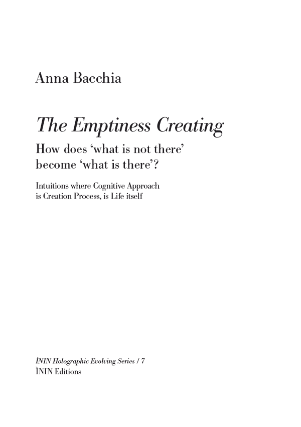 Bookcover 'How does what is not there become what is there'